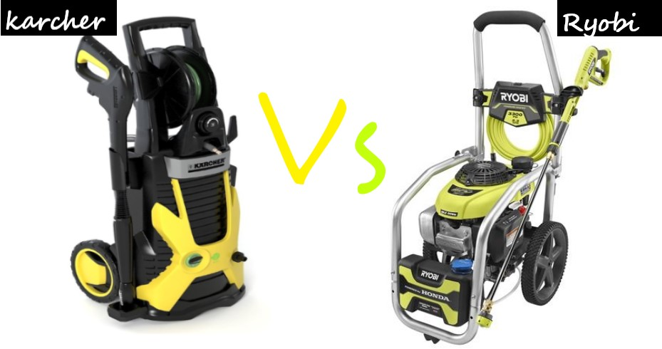 Karcher Vs Ryobi Pressure Washers (Comparison)