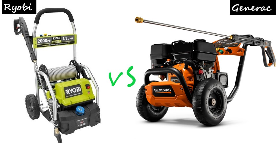 Ryobi Vs Generac Pressure Washer (In-depth Reviews)