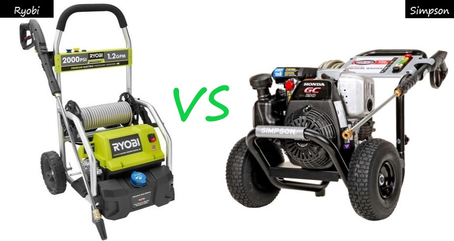 Ryobi Vs Simpson Pressure Washers (Final Verdict)