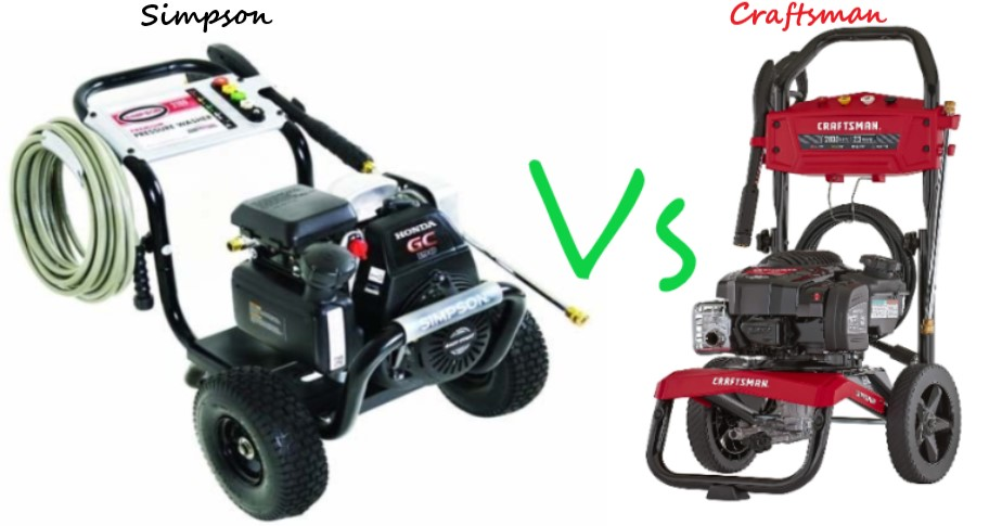 Simpson Vs Craftsman Pressure Washers (Detailed Review)