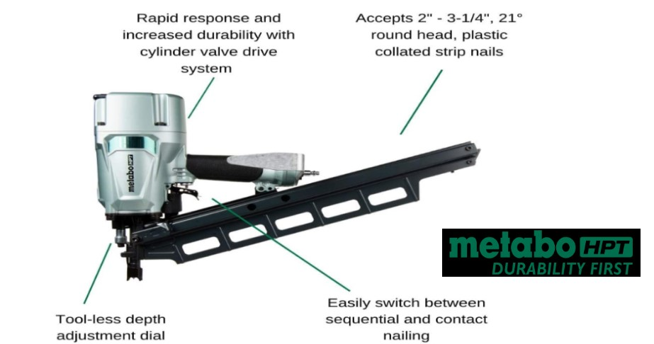 metabo framing nailer review